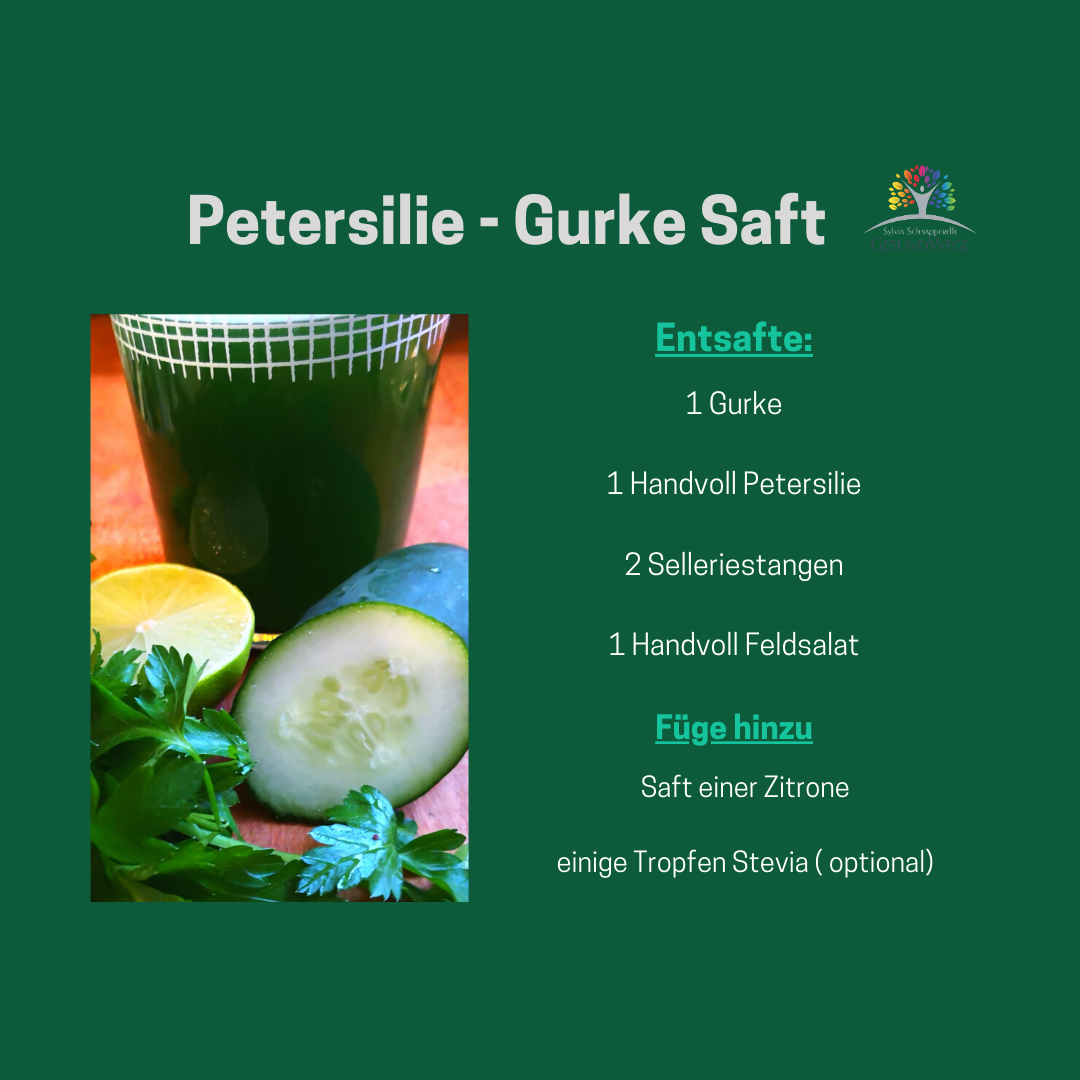 Petersilie-Gurke Saft Rezept