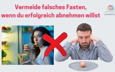 Falsches Fasten zur Gewichtsreduktion funktioniert nicht